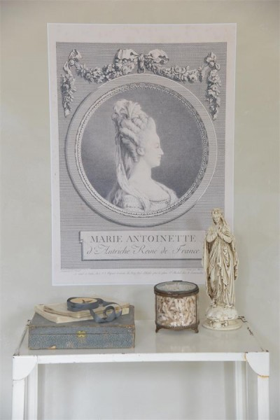 Poster mit Marie Antoinette