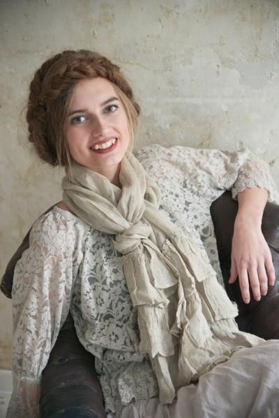 Schal Natural Past linen color
