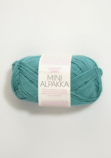 Mini Alpakka Seegrün