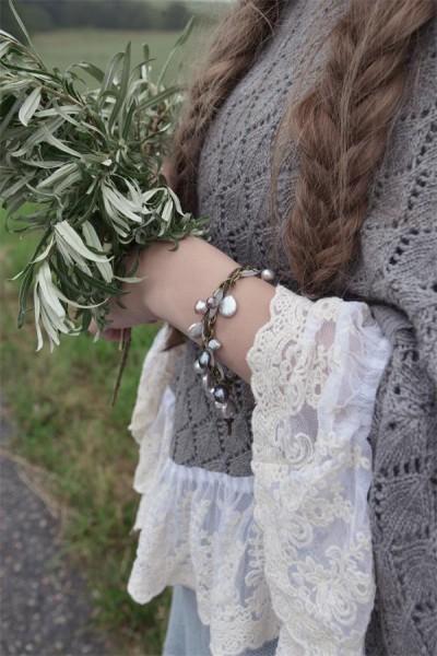 Armband Amazing Life graublau