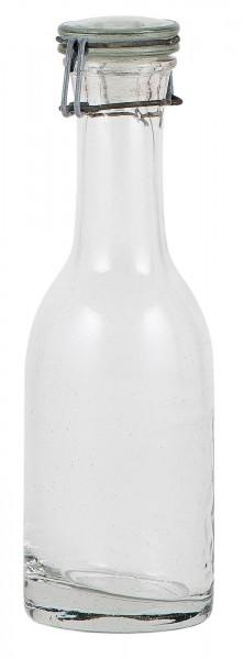 Glasflasche mit Patentverschluß für Stabkerzen