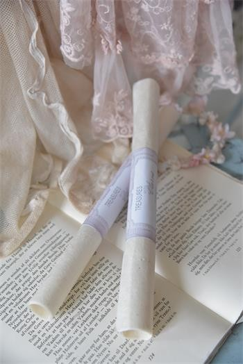 2 Bogen handgeschöpftes Papier creme