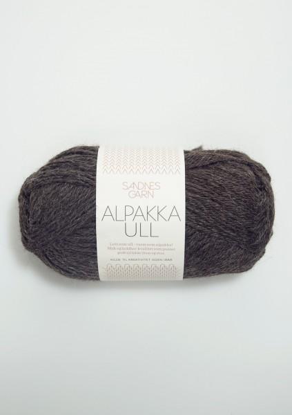 Alpakka Ull Dunkelgrau mel.