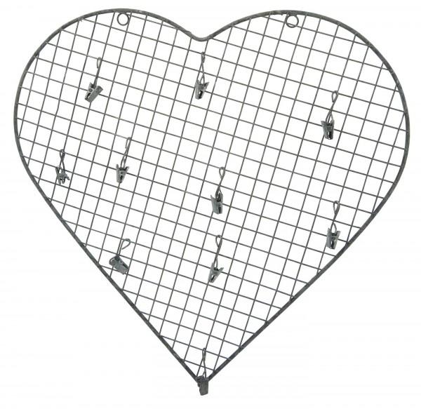 Herz aus Draht zum Aufhängen (10 Clips)
