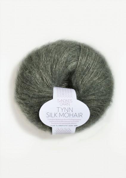 Tynn Silk Mohair Stovet Olivengronn