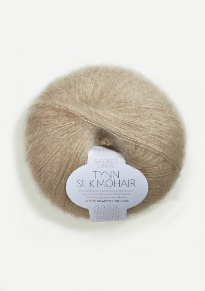Tynn Silk Mohair Lys Beige