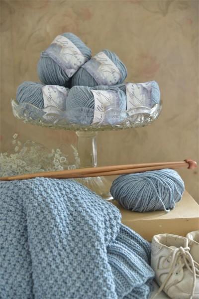 Wool Cotton Blend Soft Blue