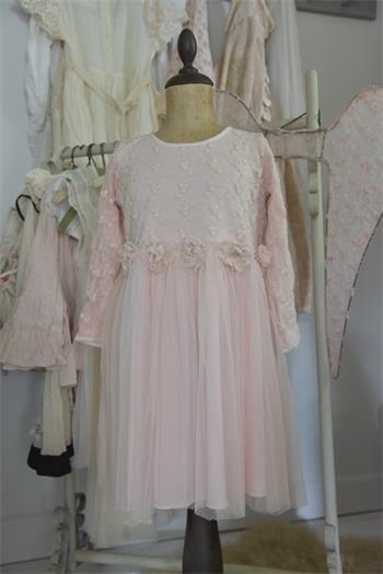 Kleid Vintage Fairy powder rose Gr. 6 J