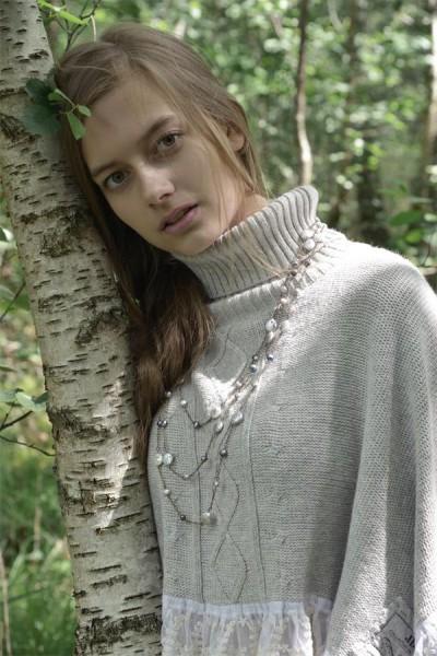 Halskette Adorable Glory greyblue