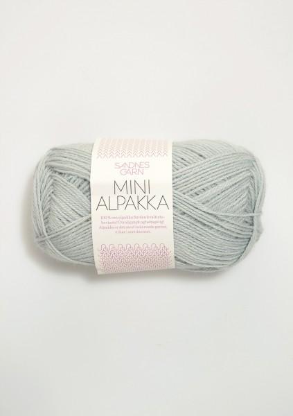 Mini Alpakka Rauch-Hellblau