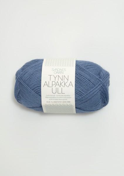 Tynn Alpakka Ull Jeansblau